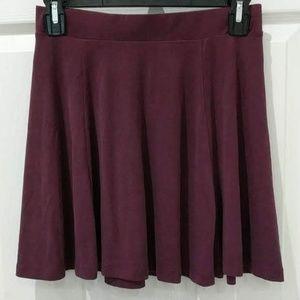 Garage Burgundy Mini Circle Skirt